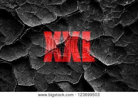 Grunge cracked xxl sign background with some soft smooth lines