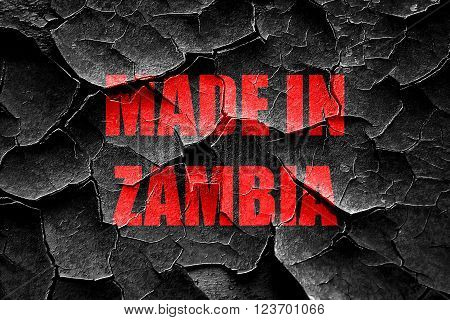 Grunge cracked Made in zambia with some soft smooth lines