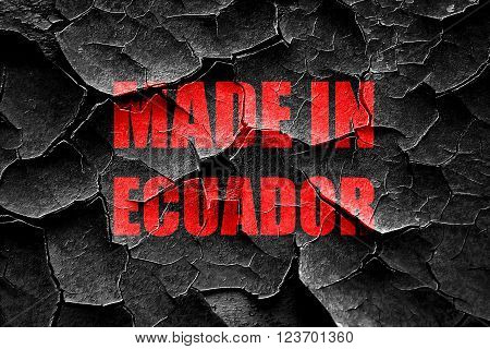 Grunge cracked Made in ecuador with some soft smooth lines