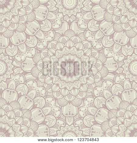 Seamless background pattern in the eastern style. Vintage background with floral ornaments - seamless vector high quality image. Abstract texture . Damask looking paper and textiles background.