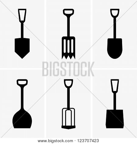 Set of six shovels ( shade pictures )