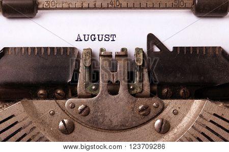 Old Typewriter - August