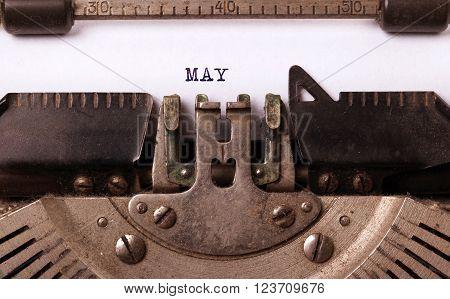 Old Typewriter - May