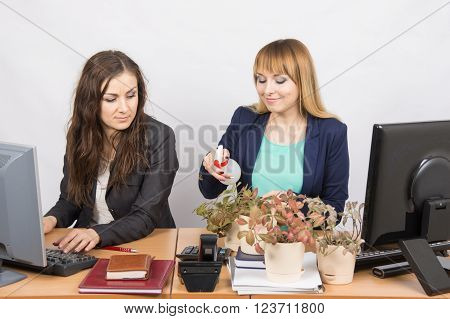 Office Employee Hostile Looks At The Colegio, Obsessed Houseplants