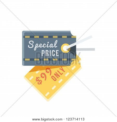Special price tag design flat icon, special offer, sale and discount, deal and best price, hot label offer, retail commerce, information inscription, vector illustration