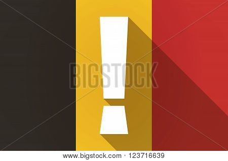 Long Shadow Belgium Flag With An Admiration Sign