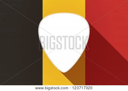 Long Shadow Belgium Flag With A Plectrum