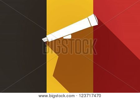 Long Shadow Belgium Flag With  A Celsius Degree Sign