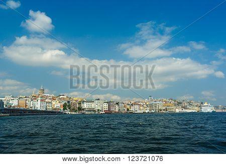 Bosphorus ships and passenger ferries in the Bosphorus Istanbul Turkey