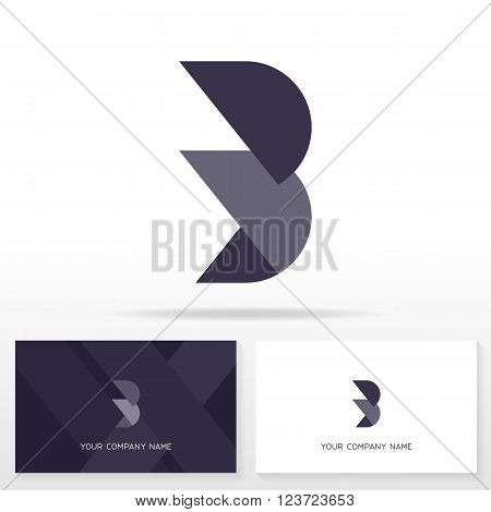 Letter B logo design vector sign - Stock vector. Business card templates.