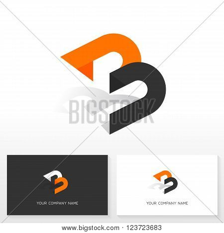 Letter B logo design. Business vector sign. Business card templates.