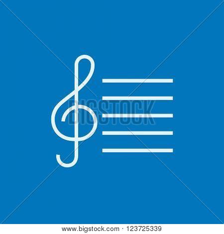 Treble clef line icon.