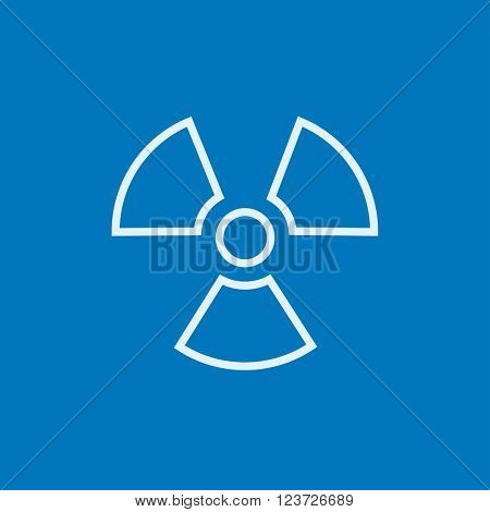 Ionizing radiation sign line icon.