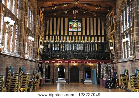 COVENTRY, UK - JUNE 4, 2015 - The Great Hall in St Marys Guildhall Coventry West Midlands England UK Western Europe, June 4, 2015.