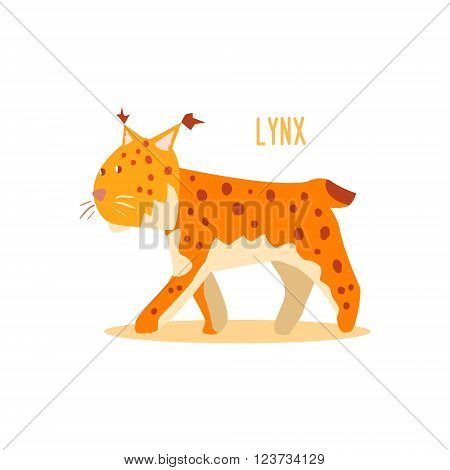 Lynx Drawing For Arctic Animals Collection Of Flat Vector Illustration In Creative Style On White Background