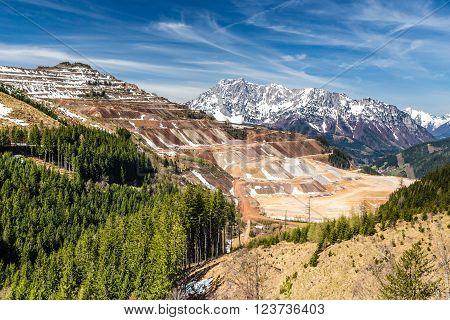 Erzberg Open-pit Iron Ore Mine - Eisenerz Styria Austria Europe