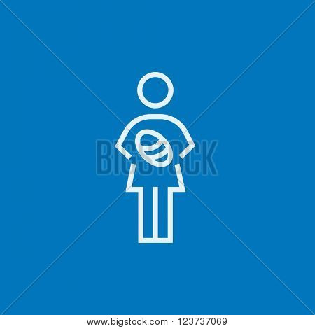 Woman holding baby line icon.