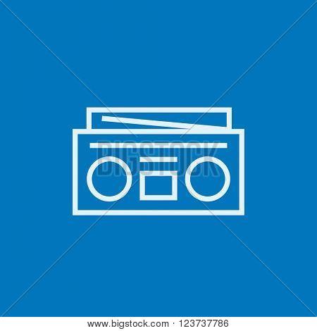 Radio cassette player line icon