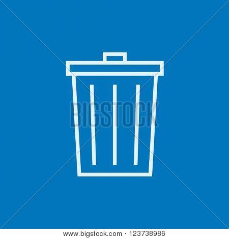 Trash can line icon.