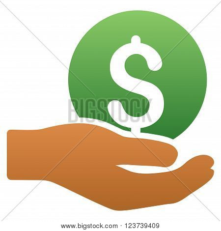 Salary vector toolbar icon for software design. Style is a gradient icon symbol on a white background.