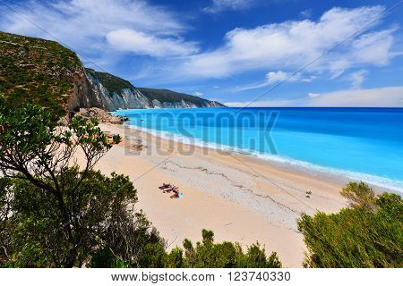 Fteri beach in Kefalonia- Greece Cephalonia island