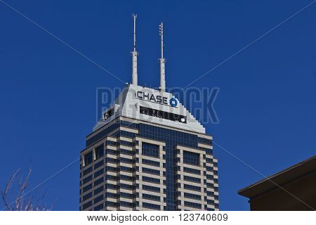 Indianapolis - Circa March 2016: Chase Bank. Chase is the U.S. Consumer and Commercial Banking Business of JPMorgan Chase I