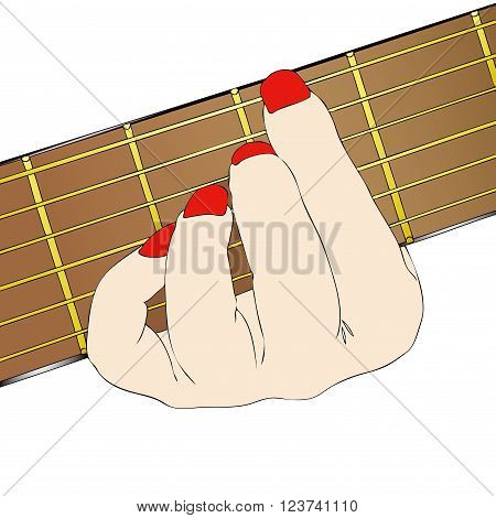 Musician - Illustration depicting a classical guitarist while playing