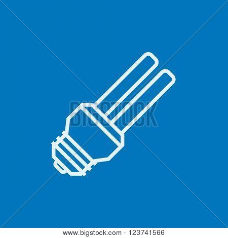 Energy saving light bulb line icon.