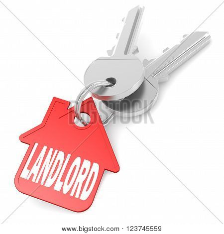 Keychain With Landlord Word Image