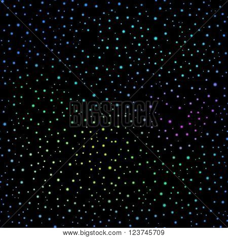 seamless vector Realistic image of the night sky with stars and galaxies. 6