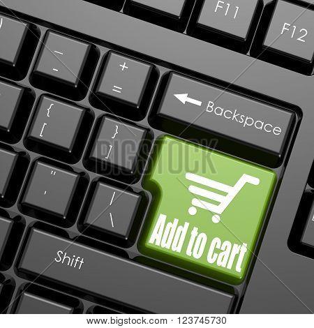 Green Add To Cart Enter Button
