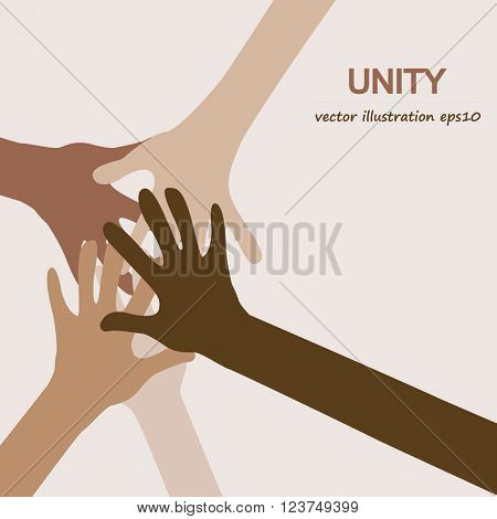 hands diverse unity background