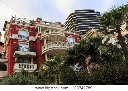 Monaco, Monaco - May 19: There are houses of the residental area La Condamin May 19, 2015 in Monaco, Monaco.
