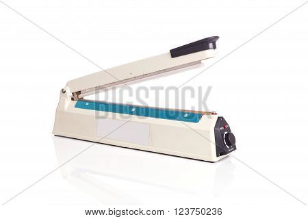 Close Up Plastic Bag Sealer Isolated On White