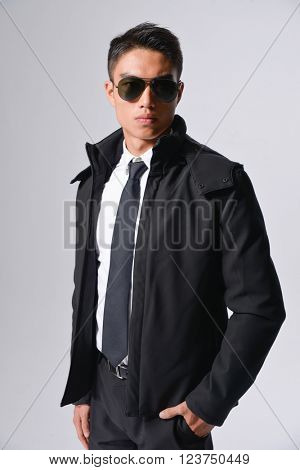 Young businessman with sunglasses