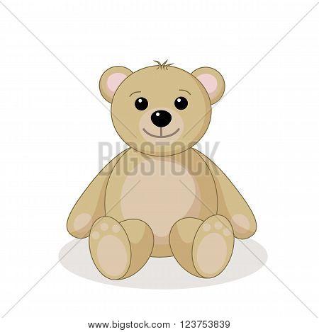 sweet teddy against white background, vector illustration