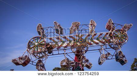 The zipper ride at a state fair