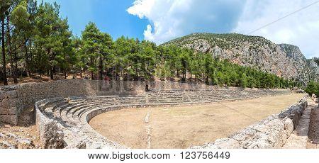 Ancient Stadium In Delphi