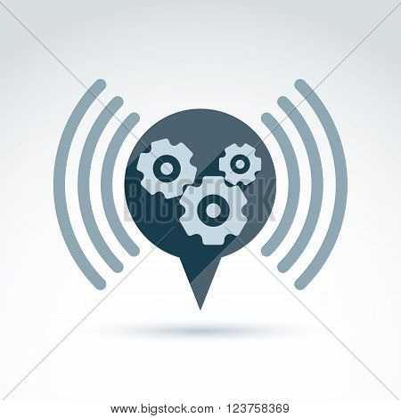 Vector Illustration Of Conversation On Organization System Theme, Strategy Concept. Podcast Symbol.