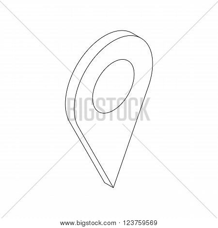 Map location mark icon in isometric 3d style on white background