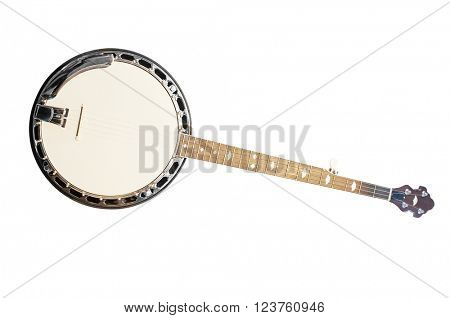 banjo isolated under the white background