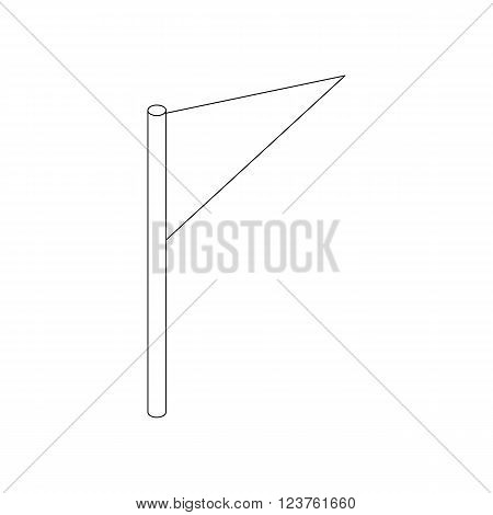 Flag icon in isometric 3d style isolated on white background