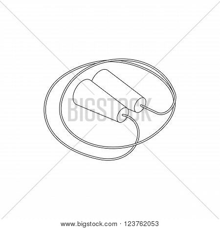 Skipping rope icon in isometric 3d style isolated on white background