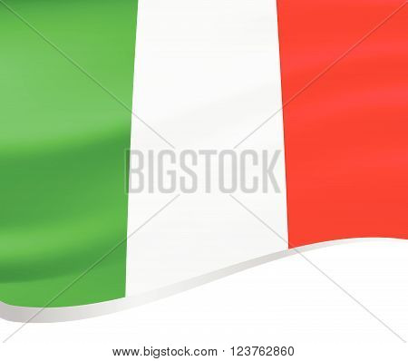 Waving flag of Italy vector on white background