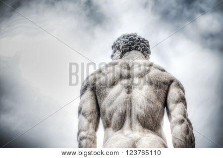Hercules statue in Piazza della Signoria in Florence Italy