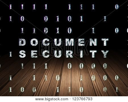 Safety concept: Document Security in grunge dark room