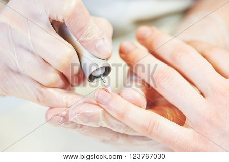 fingernail care. manicure nail polish beauty procedure