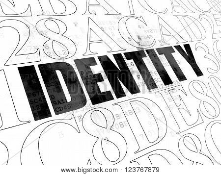 Security concept: Identity on Digital background