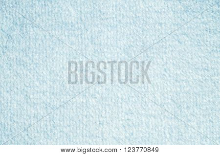 Closeup surface blue blanket fabric texture background