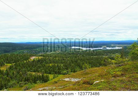 Northern landscape. This picture was taken on top of the fell  in Lapland